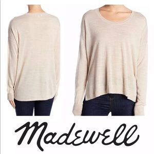 Madewell Wool Blend Pullover Sweater Beige